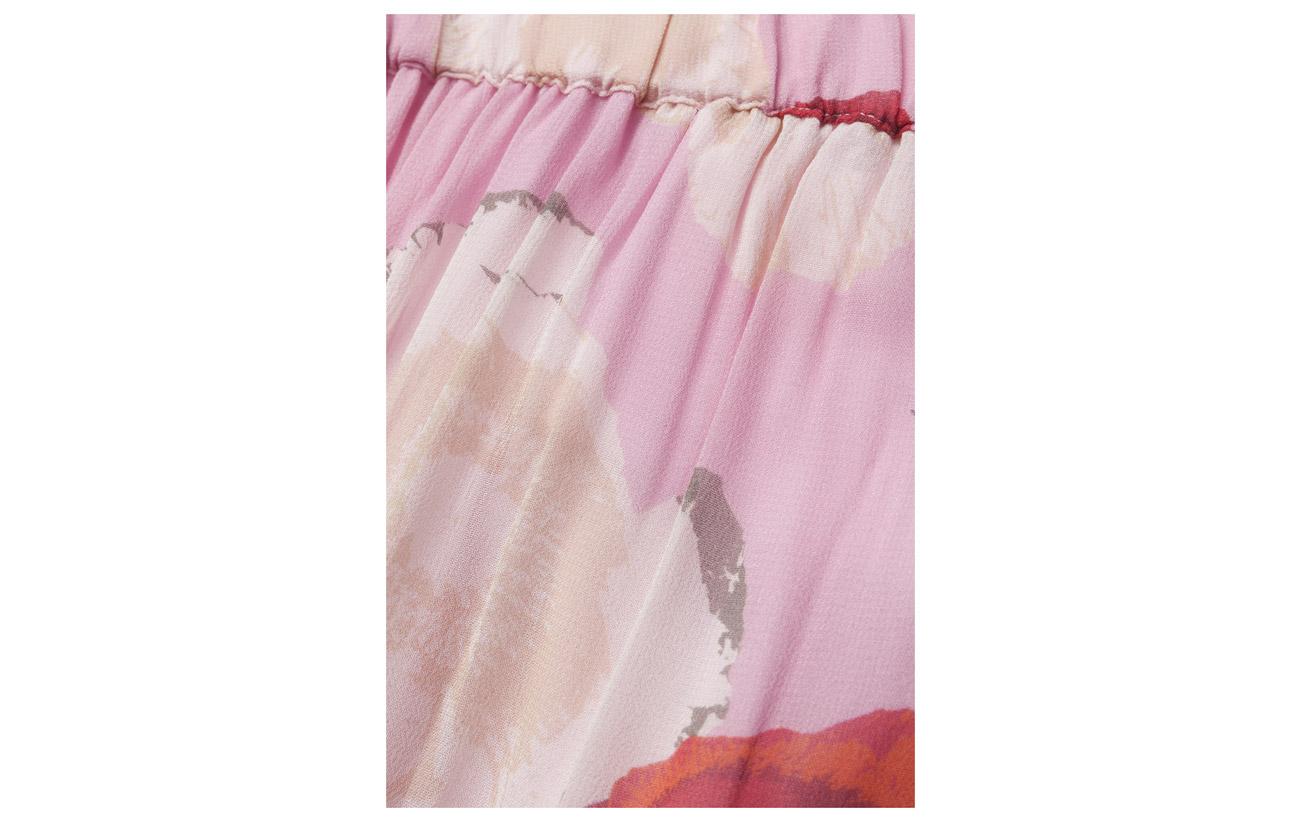 Pink Gestuz Intérieure Skirt Viscose Long Équipement 100 Ms18 Flower Doublure Violetta qfHZwCI