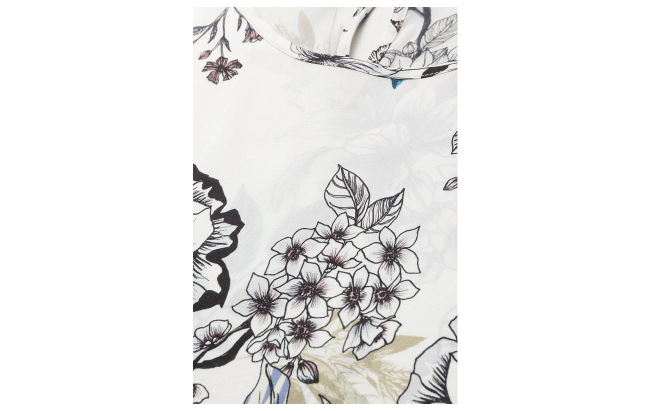 Flower 100 Top Ms18 Gestuz Floria Ss Soie White pZxFqWT4wX