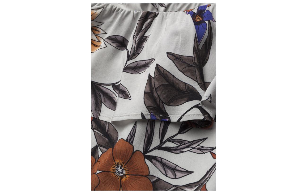 Flower Intérieure 100 Équipement Gestuz Shoulder Print Doublure One Hs18 Viscose Greye Grey zSZw8qSX