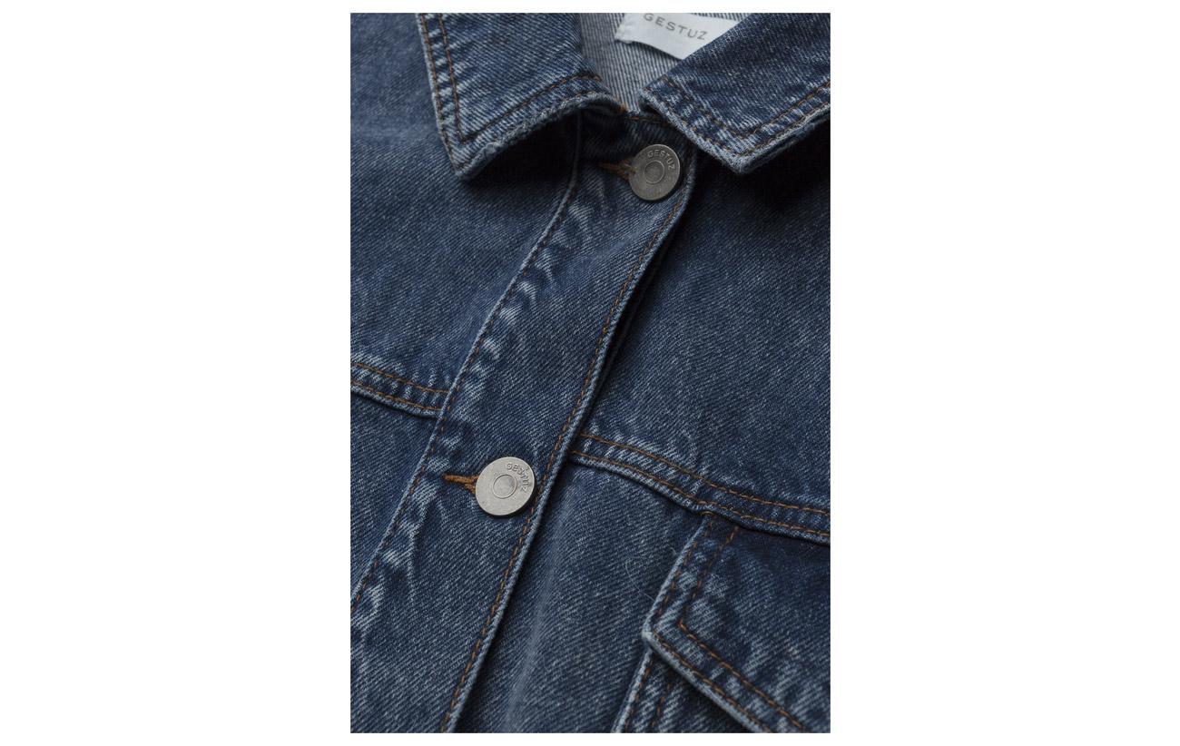 Gestuz 100 Blue Jacket Washed Coton Ao18 Aparo vgXvxw8