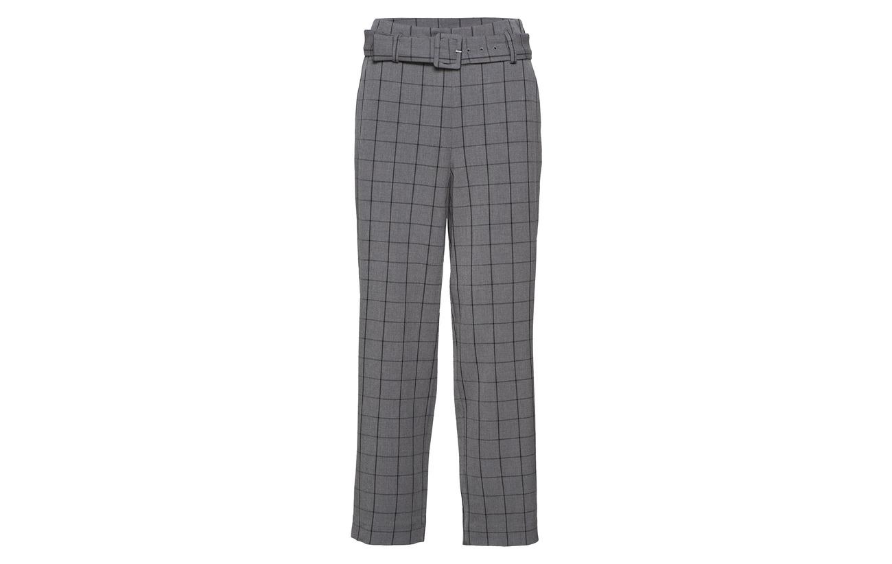 Mokita Elastane Gestuz Ma18 Polyester Check 95 Pants 5 6gdwqgU0