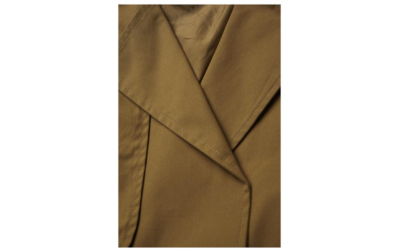 Short Coton Trenchcoat Mira Gestuz Intérieure Doublure Ma18 Polyester Antique 100 Bronze Équipement 7fTCSwHxq