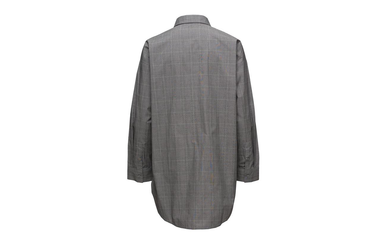 18 Wray white Check 100 Ze1 Shirt Black Coton Gestuz IATqwC