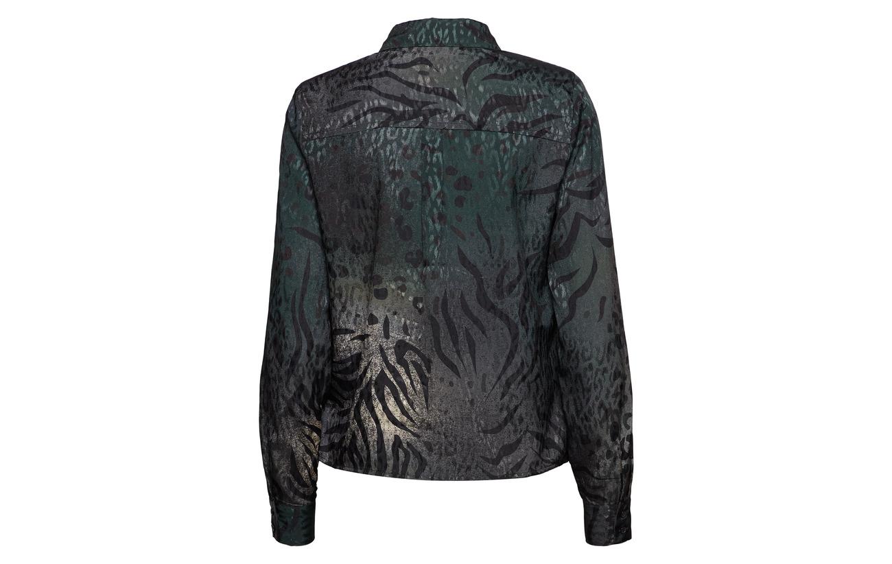 Animal Polyester Ye18 Pine Deep Gestuz Shirt Cristal 100 ZnAwPw