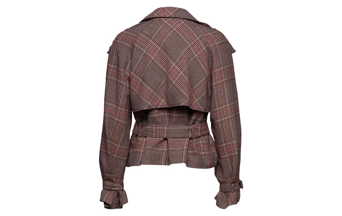 Viscose Polyester Jacket Tan Gestuz 51 Coton Lin 19 Short 6 100 Check Équipement Doublure 5 Intérieure So19 Other Polyester Sari xpZIT