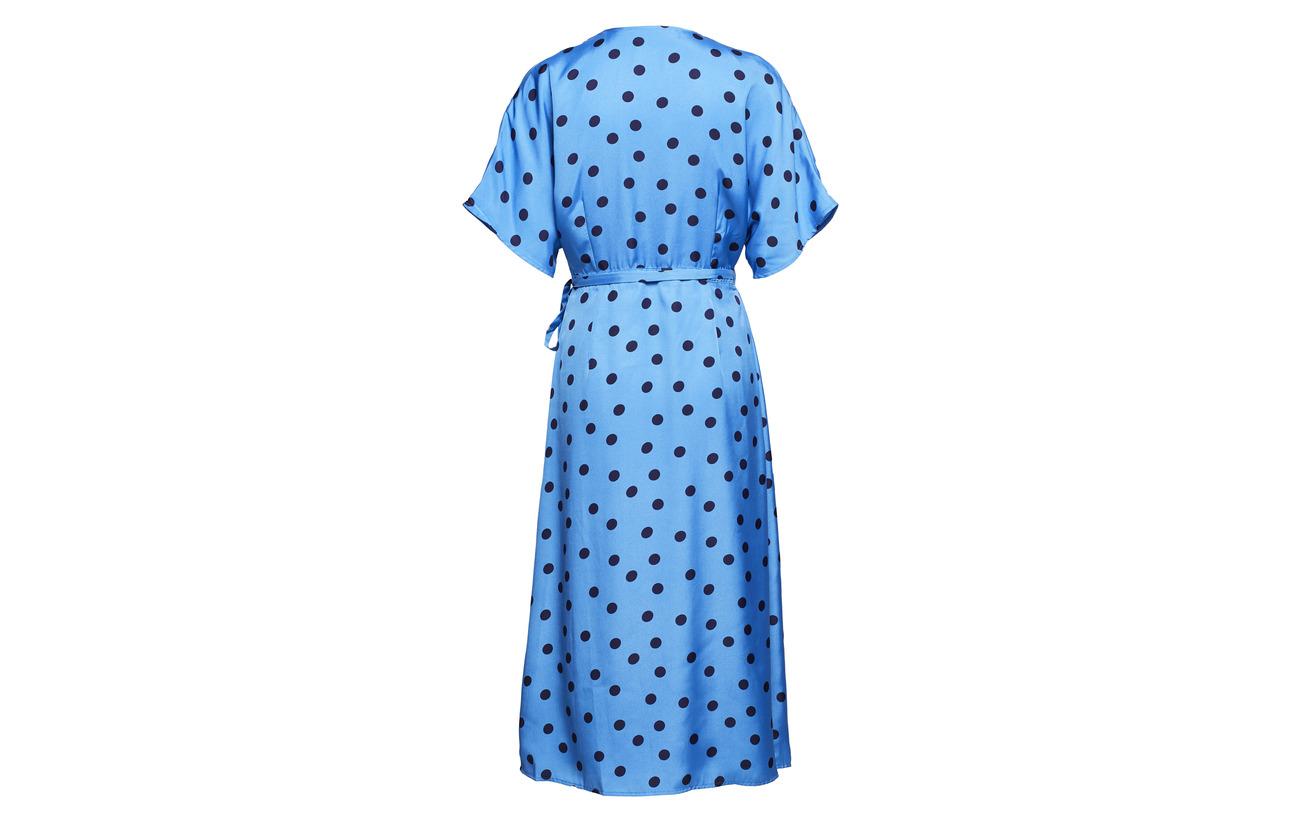 Blue Viscose Ze2 Dress Doublure Gestuz Dot navy Intérieure 18 Équipement Wrap Polyester 100 Elsie wqfWpxPaX4