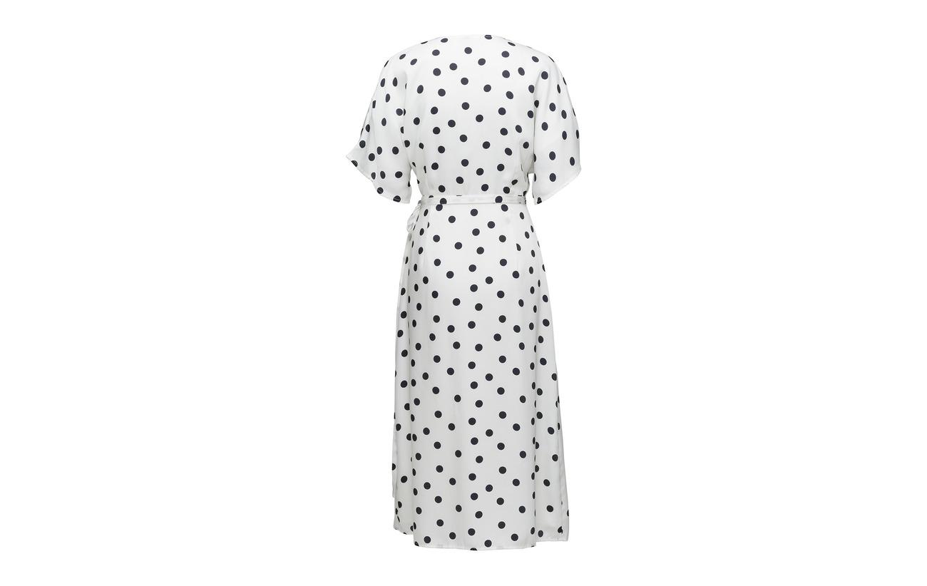 Équipement Dot Viscose Gestuz Ze2 100 18 Dress Doublure Wrap Elsie Intérieure Navy Polyester White 4TTfq07xP