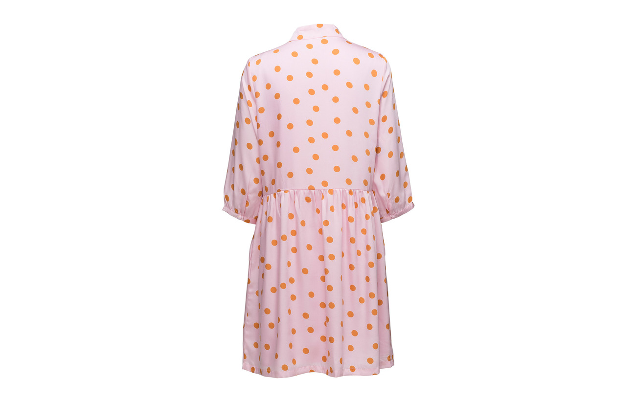 Polyester 18 Ze2 Pink Dot Elsie Gestuz 100 Orange Dress xqw6naZZCU