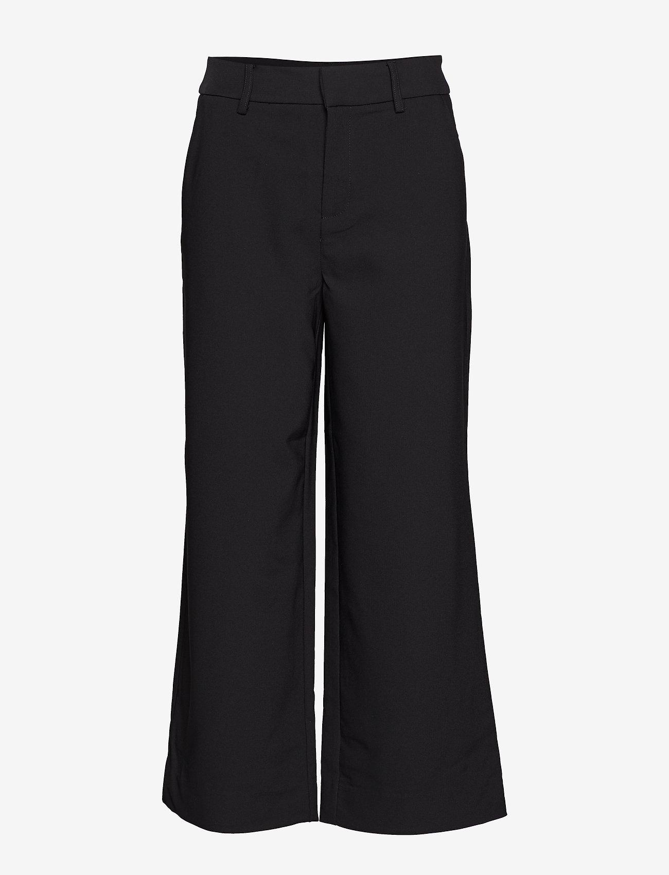 Gestuz - JoelleGZ culotte NOOS - bukser med brede ben - black - 1