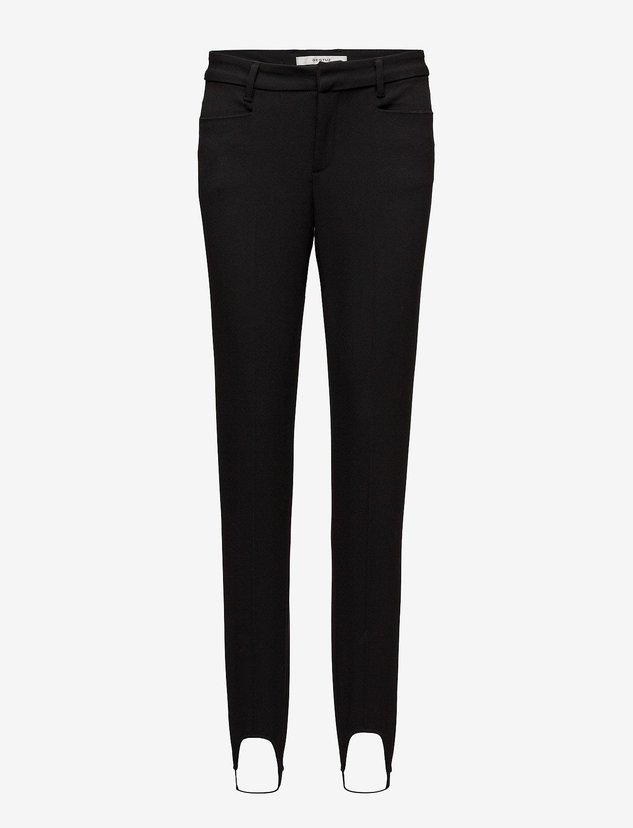 Gestuz - Cayenne stirrup pants MA17 - broeken med skinny fit - black - 0