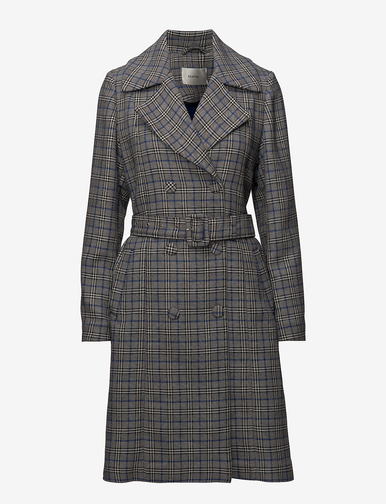 Gestuz - Vinne coat MS18 - trenchcoats - black/white check - 0
