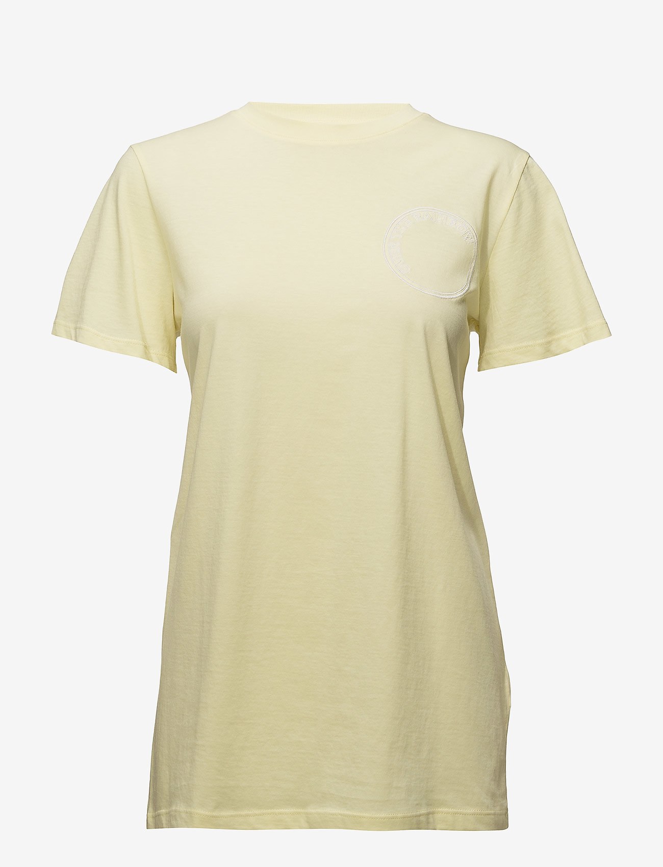 Gestuz - Bowi oz top MS18 - printed t-shirts - yellow pear - 0