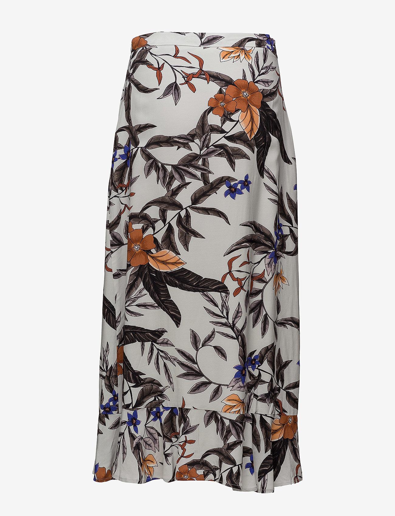 Gestuz - Greye long skirt HS18 - midi - grey flower print