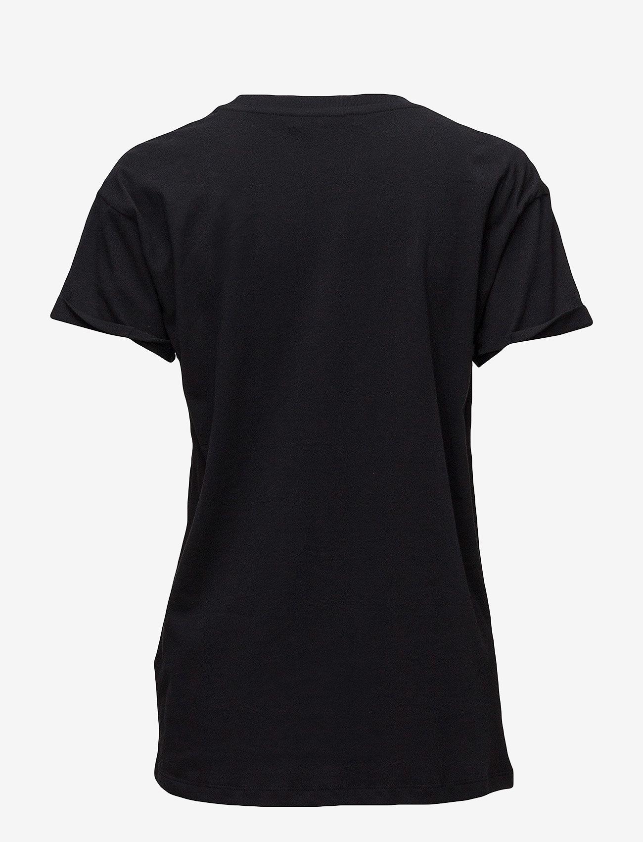 Gestuz - Hawaii tee HS18 - printti t-paidat - black