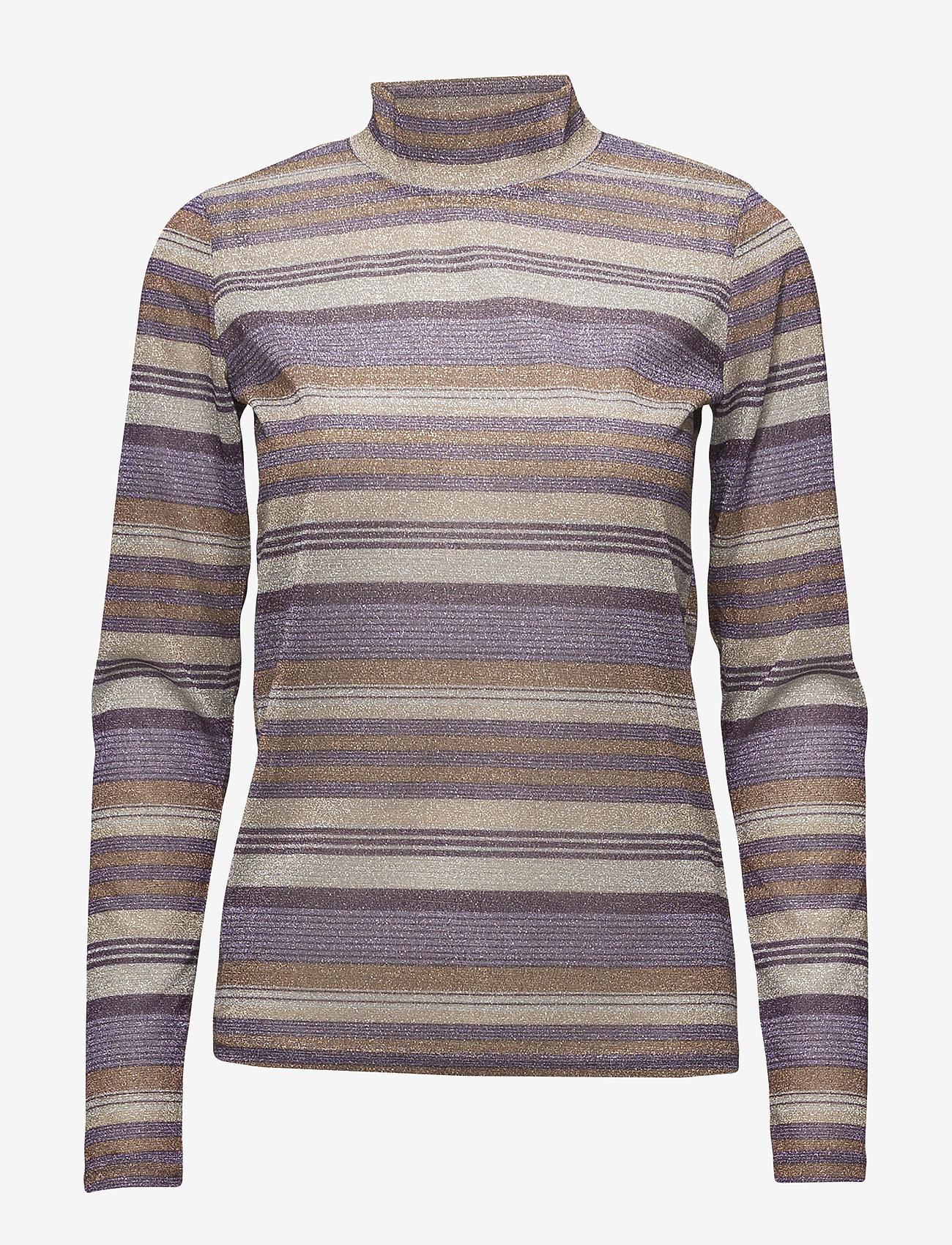 Gestuz - Shine turtleneck MA18 - langärmlige tops - purple/gold - 0