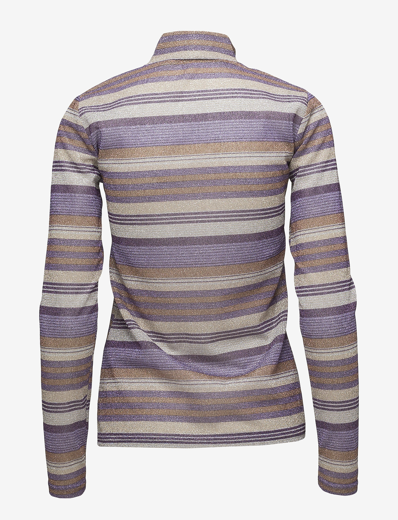 Gestuz - Shine turtleneck MA18 - langärmlige tops - purple/gold - 1