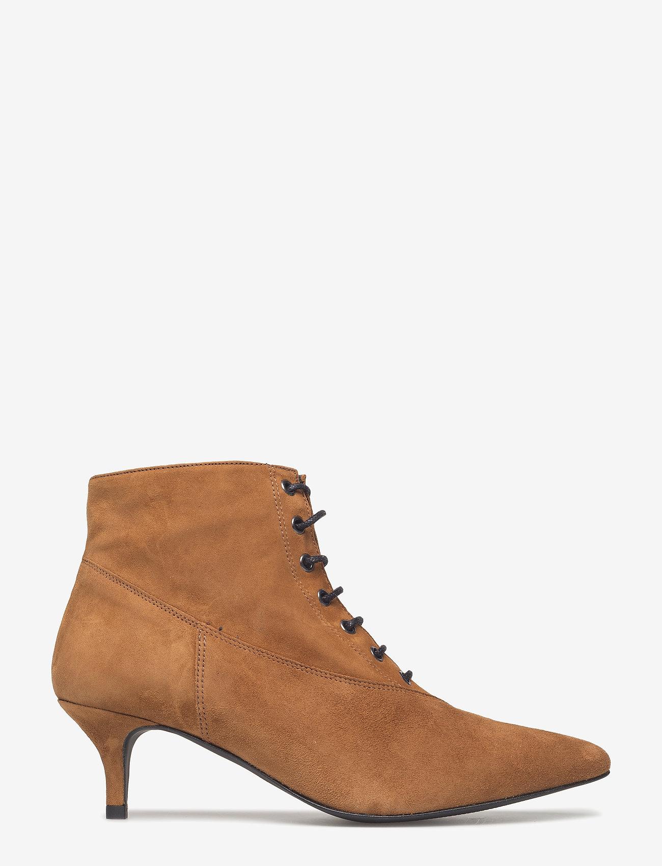 Gestuz - Linea boots MA18 - ankelstøvler med hæl - camel