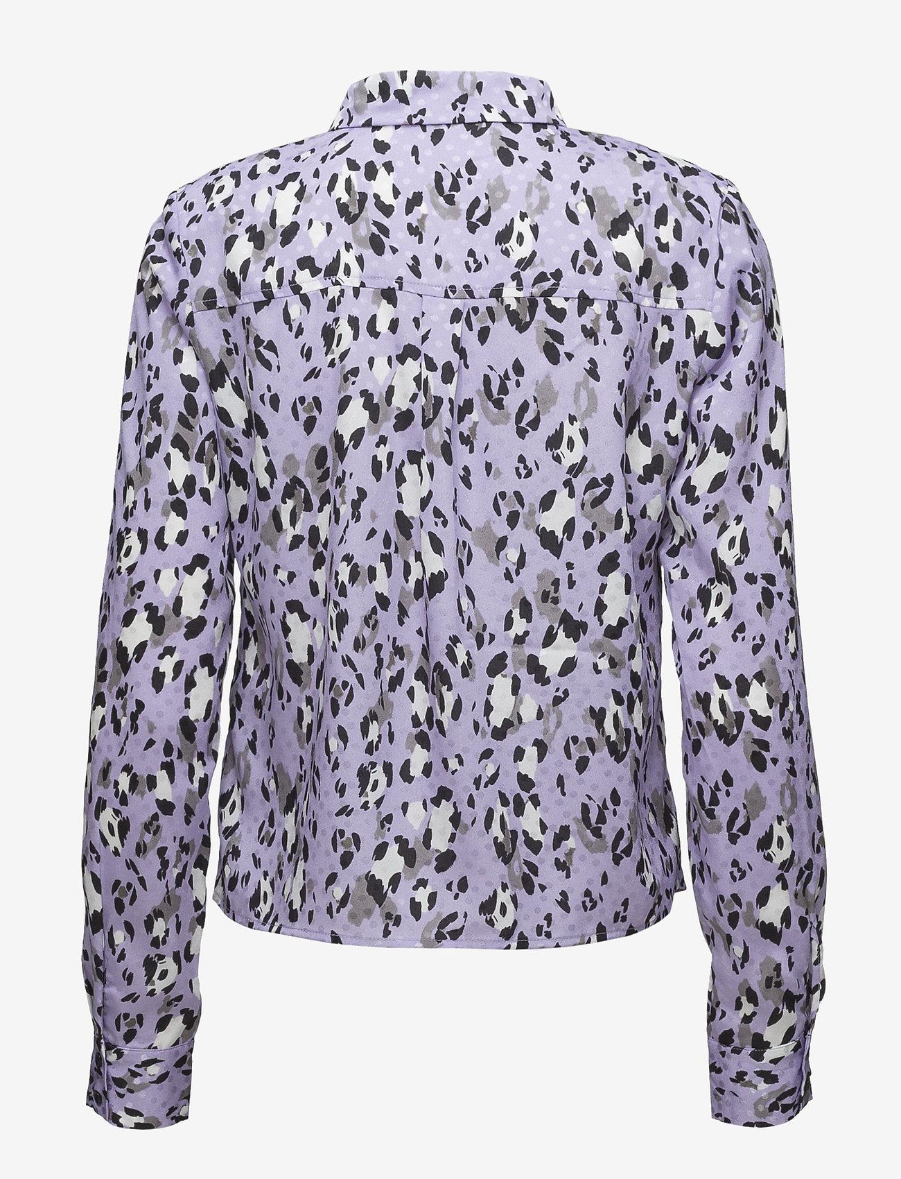 Gestuz - Leopa shirt MA18 - long sleeved blouses - purple leopard
