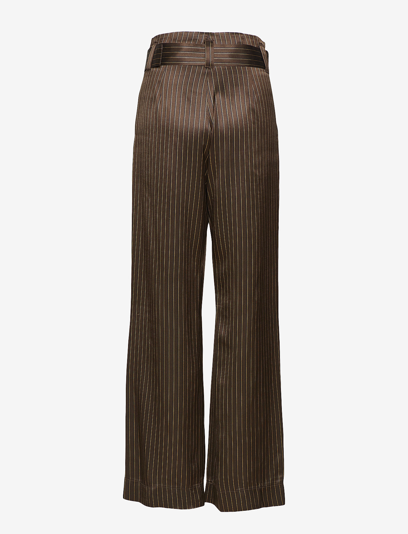 Gestuz - Strika pants MA18 - wide leg trousers - brown stribe