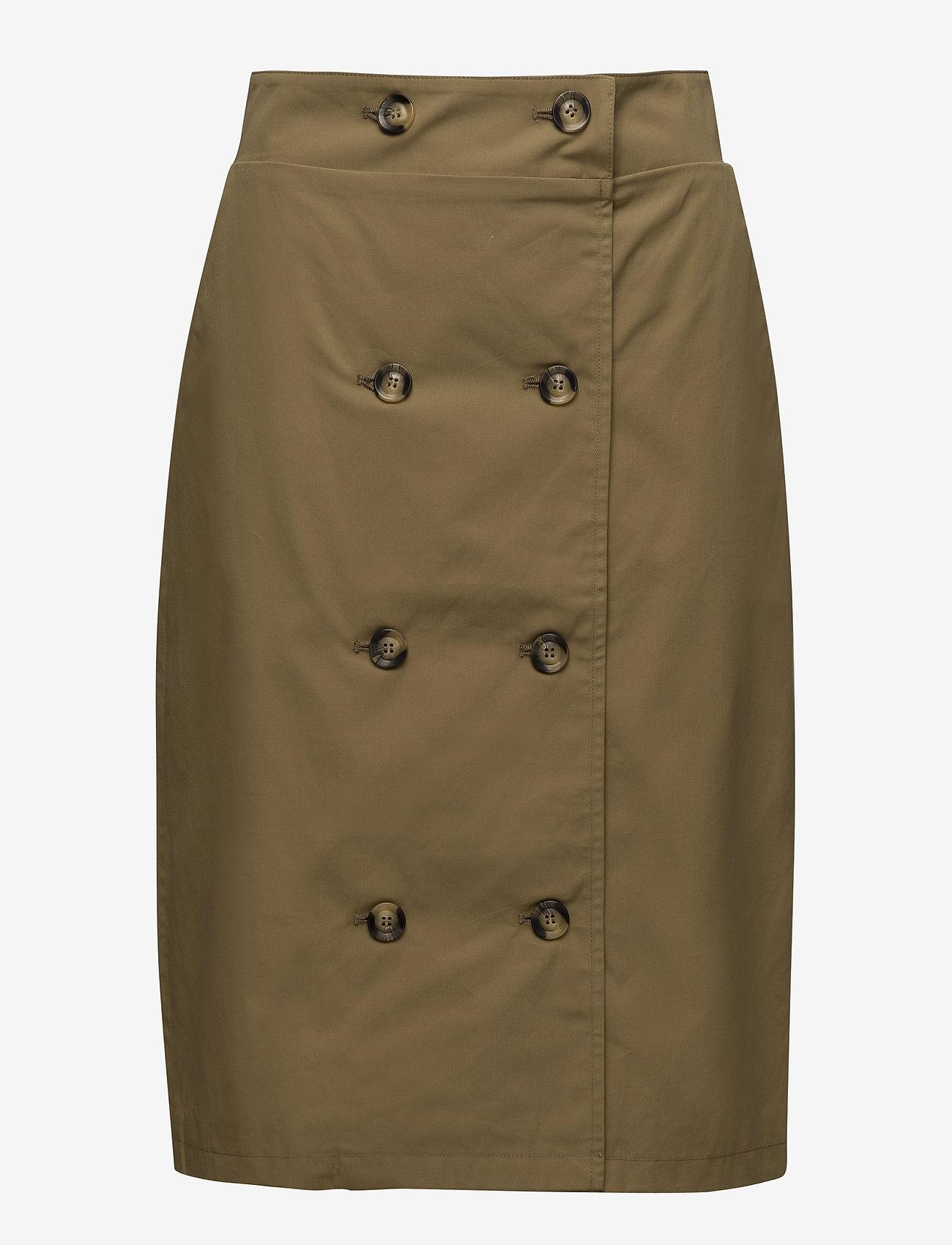 Gestuz - Mira skirt MA18 - midi skirts - antique bronze