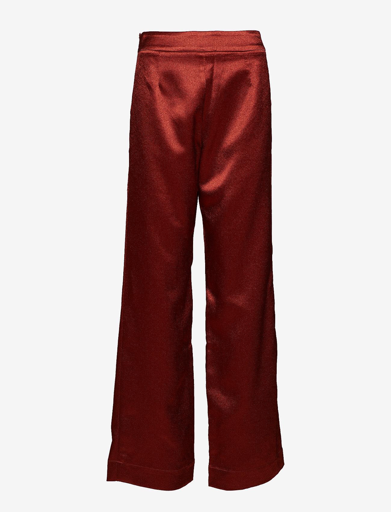Gestuz - Nicola pants YE18 - bukser med brede ben - burned - 0