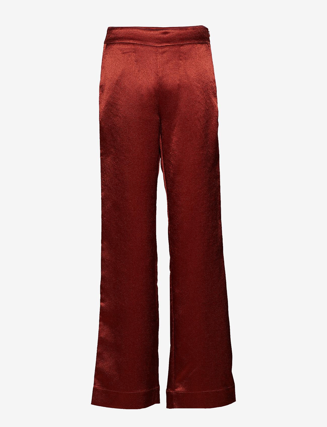 Gestuz - Nicola pants YE18 - bukser med brede ben - burned - 1