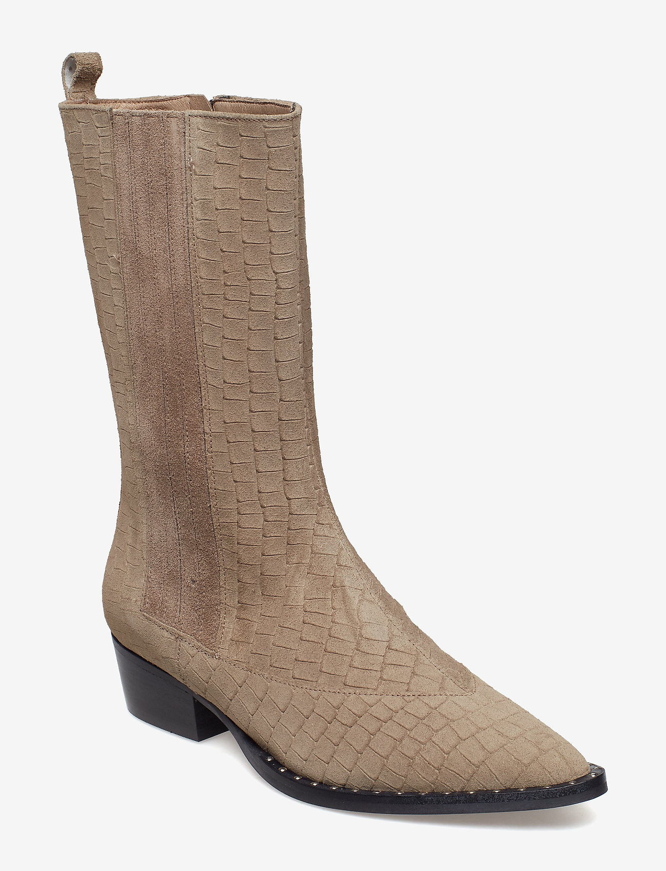 Gestuz Nancy Suede Boots So19 Beige As Cut