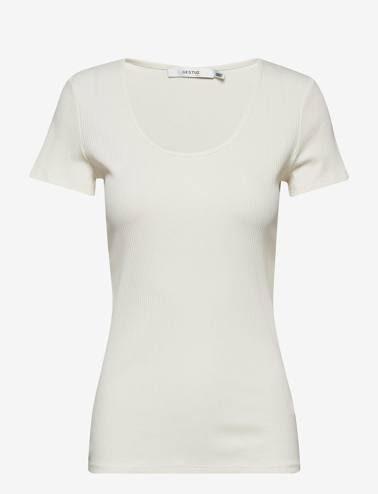 Gestuz - RollaGZ tee NOOS - basic t-shirts - bright white - 0