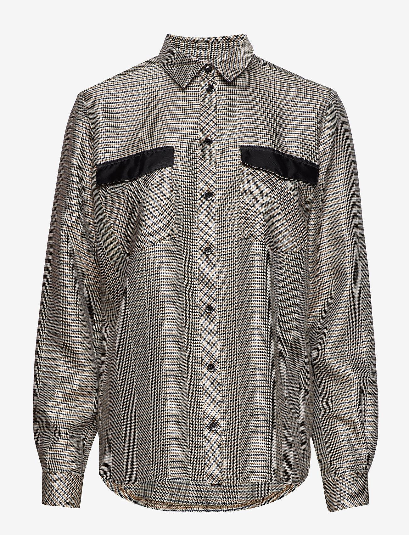 Gestuz - Callie shirt SO19 - langærmede bluser - check - 0