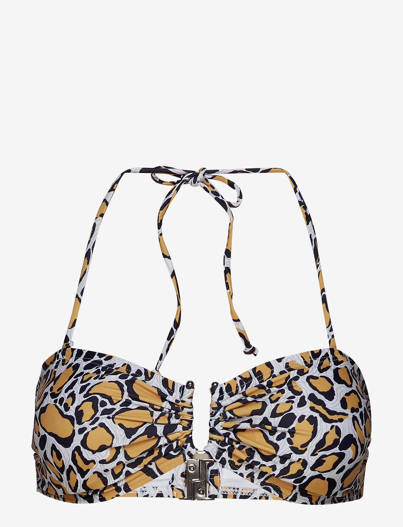 Gestuz - CanaGZ bikini top - bikini overdele - yellow animal - 0