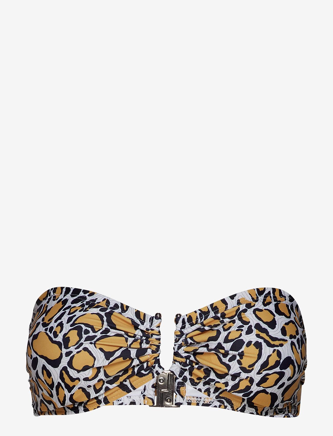 Gestuz - CanaGZ bikini top - bikini overdele - yellow animal - 1
