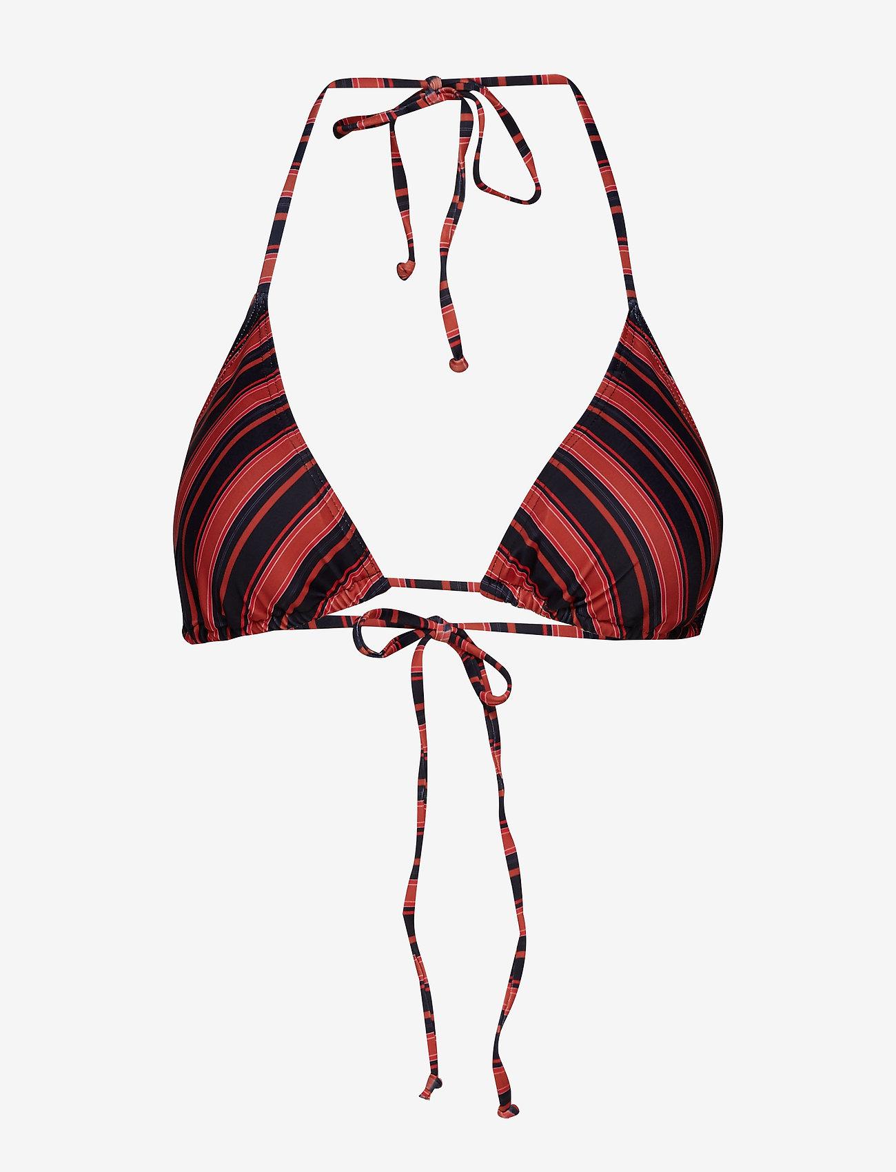 Gestuz - PilGZ bikini top AO19 - bikini overdele - black multi stripe - 0