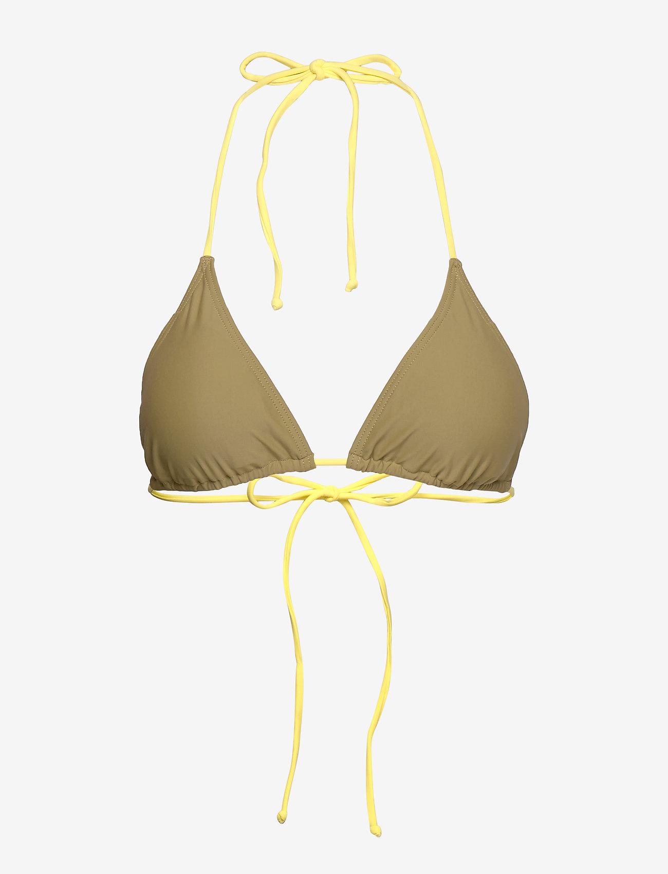 Gestuz - PilGZ bikini top AO19 - bikini overdele - dried herb - 0