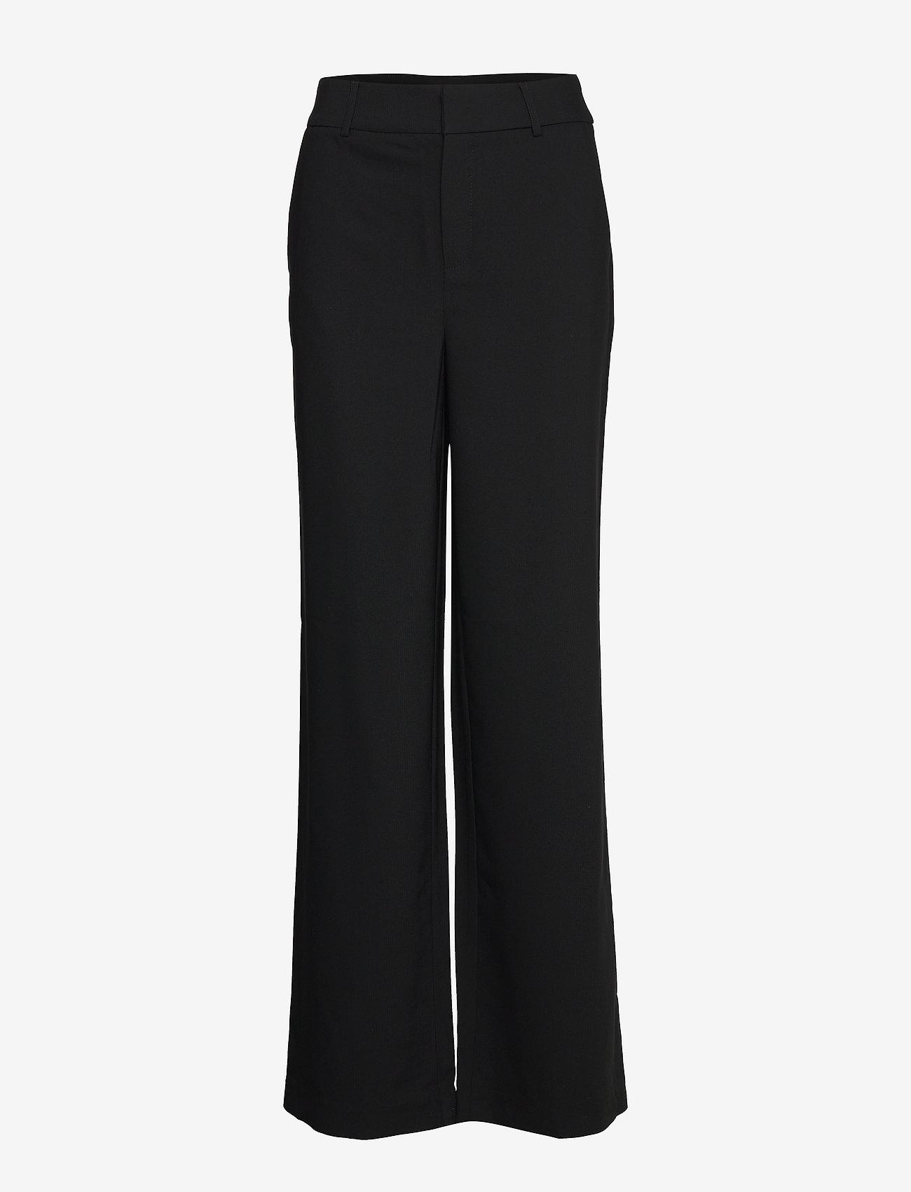 Gestuz - JoelleGZ pants NOOS - bukser med brede ben - black - 1