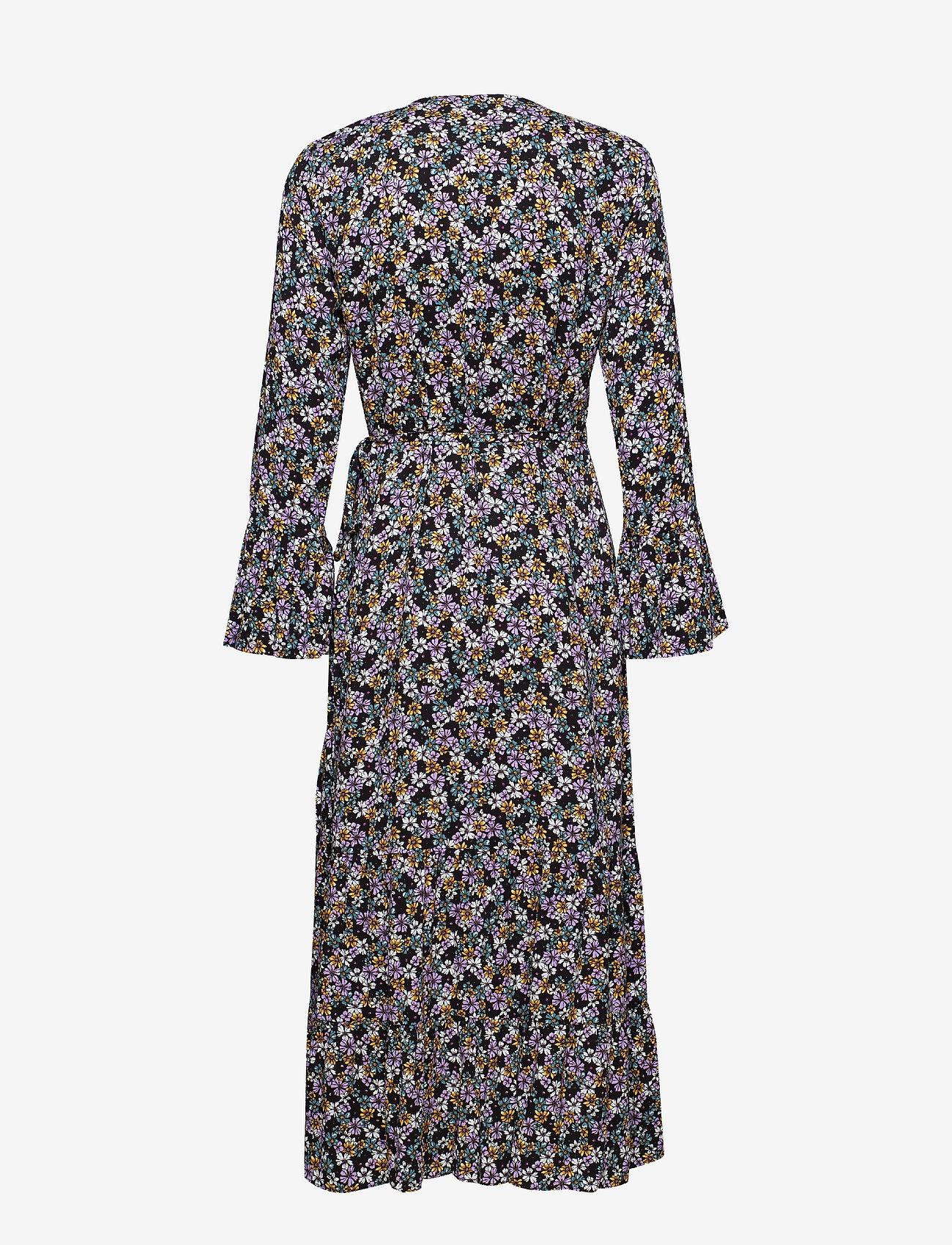 Gestuz - FayaGZ wrap dress ZE1 19 - wrap dresses - purple/black flower