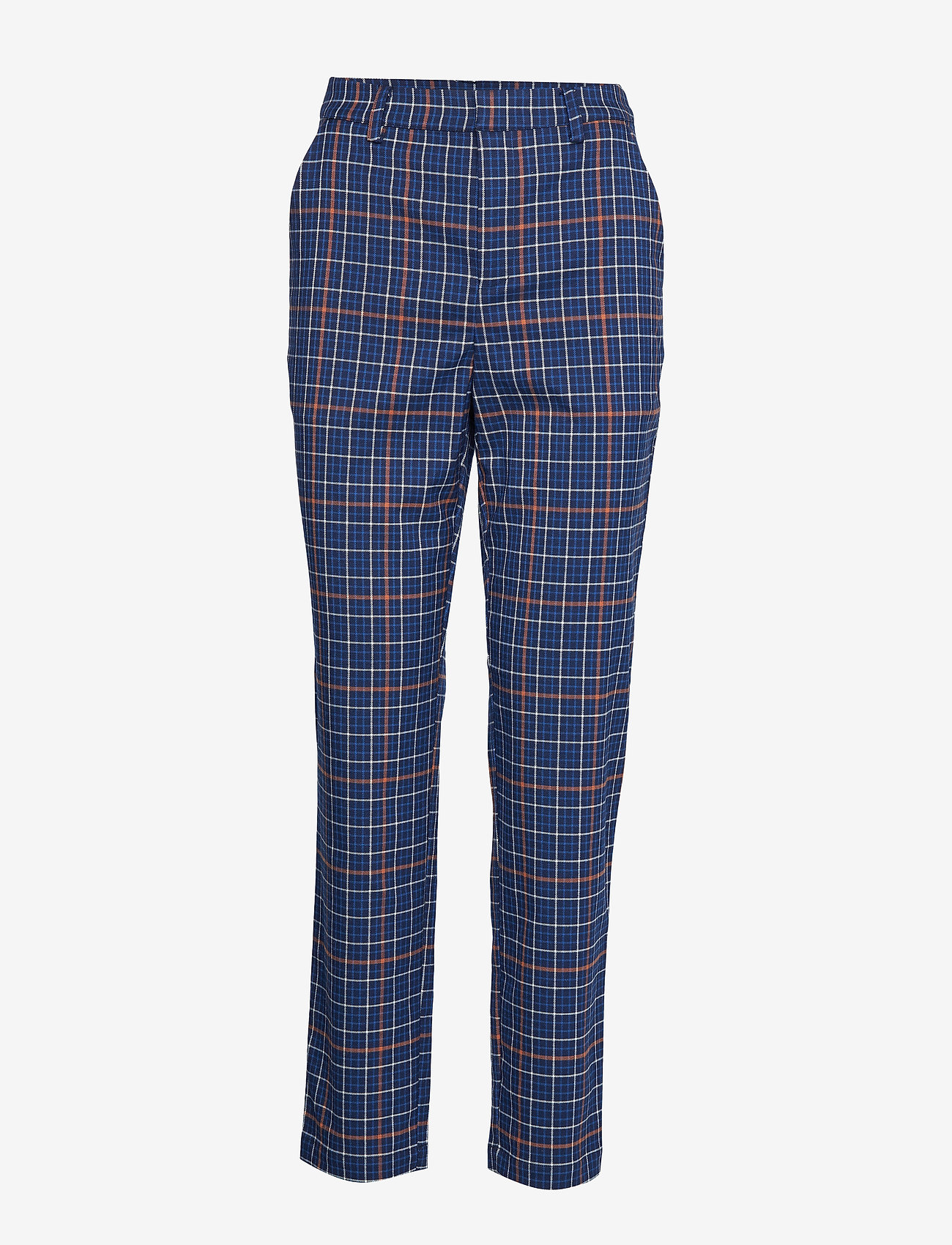 Gestuz - NiraGZ pants MA19 - suorat housut - blue/umber check