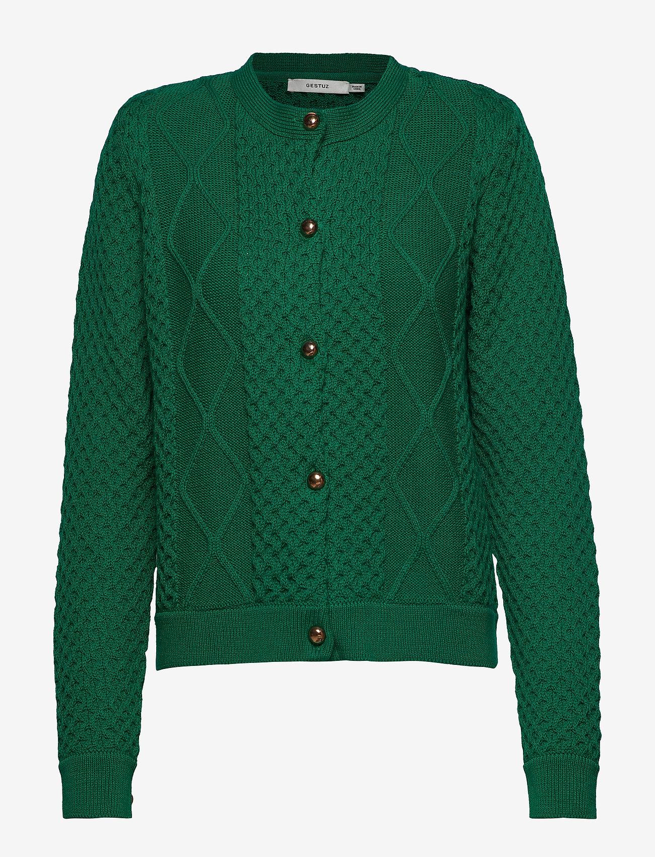 Gestuz - MichaGZ short cardigan MA19 - neuletakit - ultramarine green