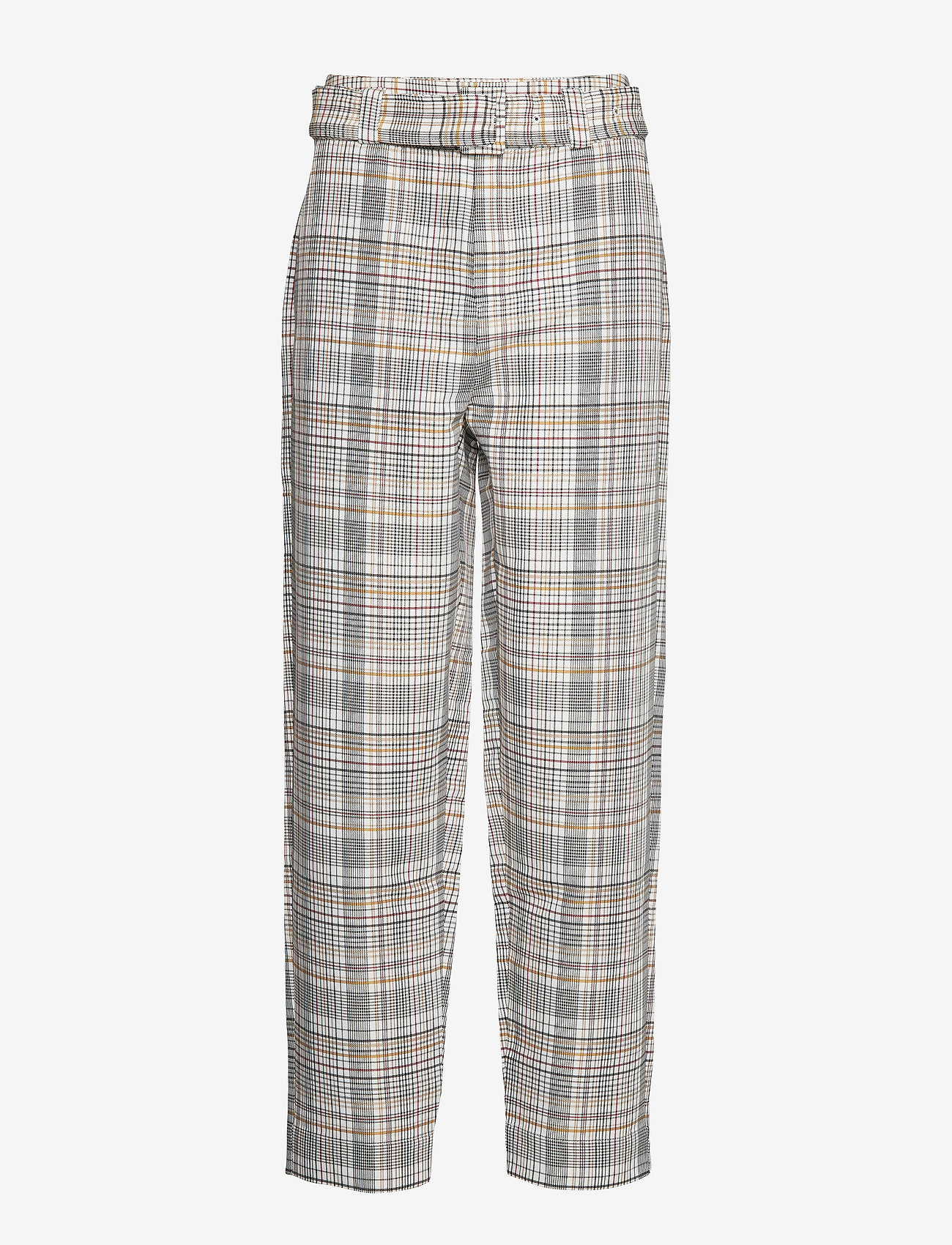 Gestuz - GinnieGZ pants MA19 - suorat housut - red/yellow check