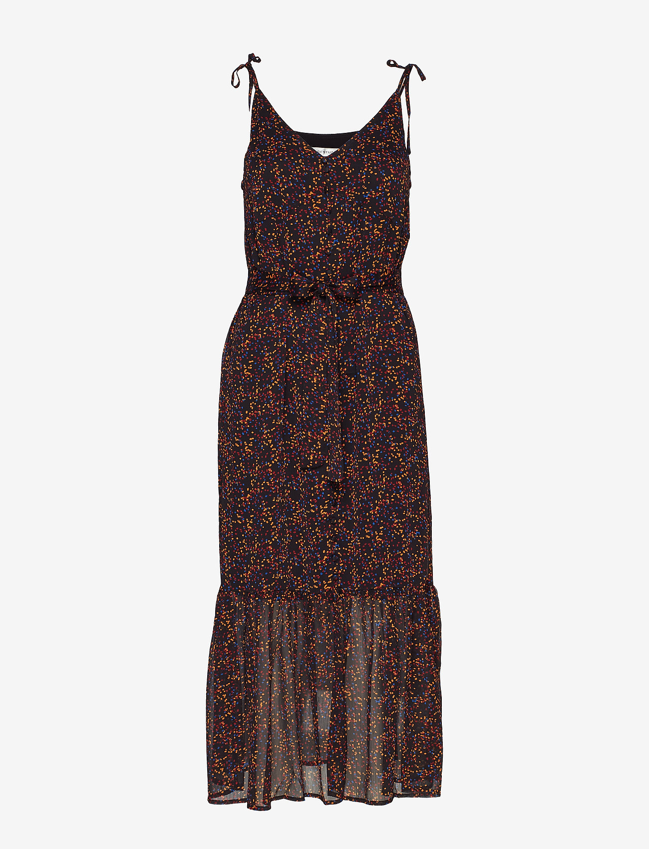 Gestuz - AlminaGZ long dress MA19 - midimekot - black multi dot