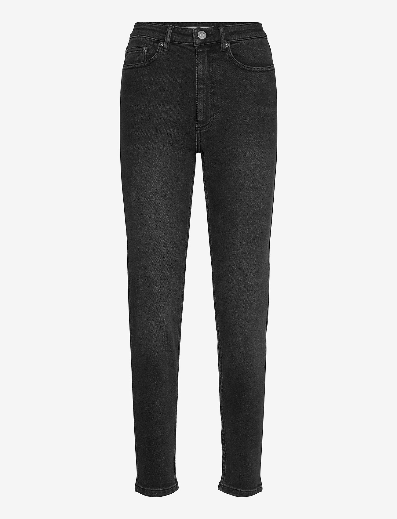 Gestuz - AstridGZ HW slim jeans NOOS - mom jeans - washed black - 0