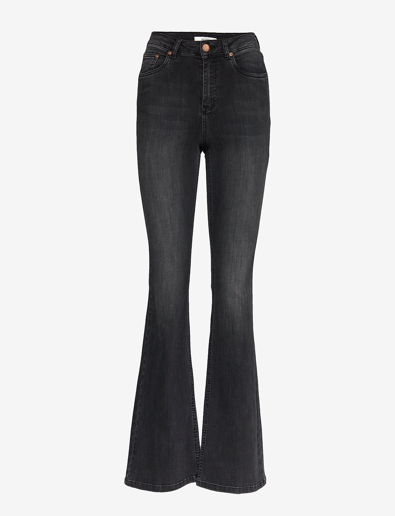 Gestuz - EmilindaGZ long jeans NOOS - jeans évasés - charcoal grey