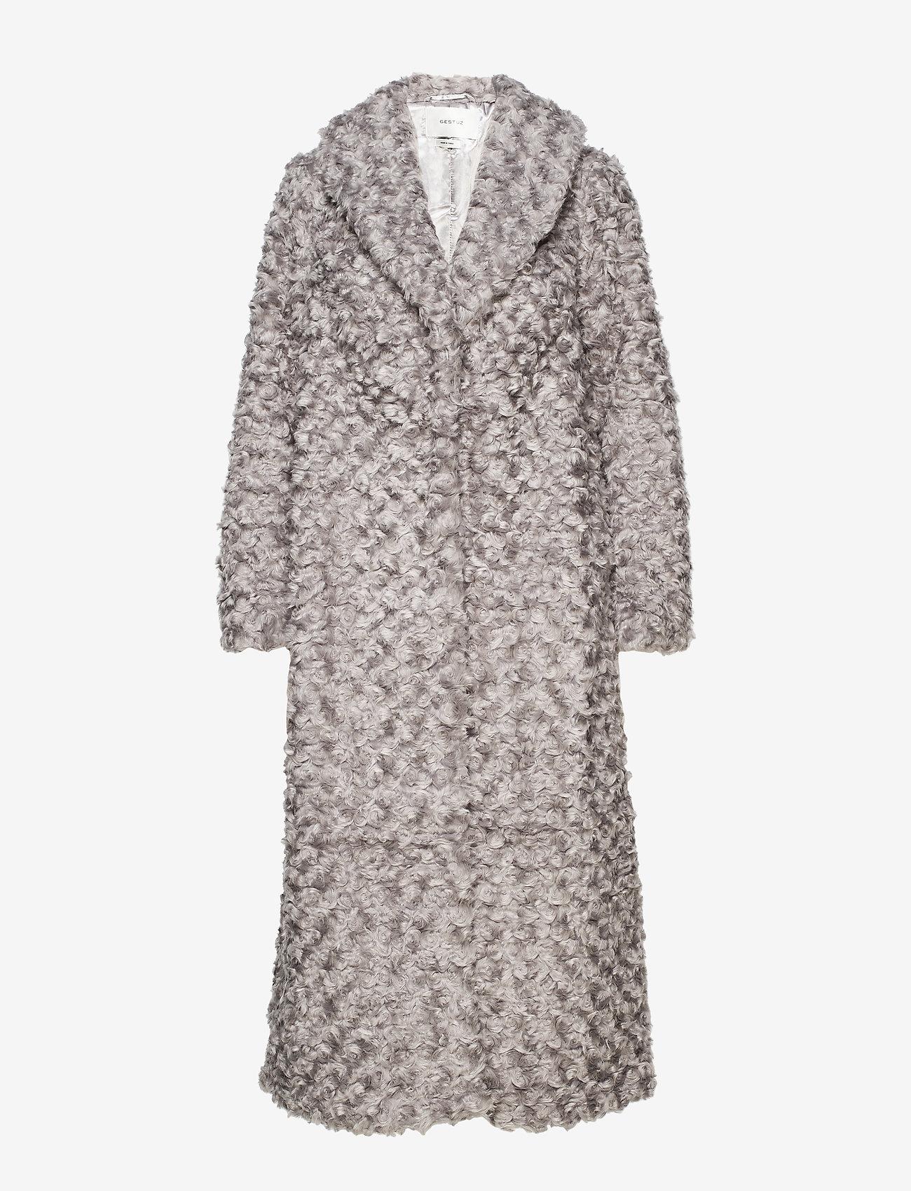 Gestuz - RyssaGZ coat YE19 - sztuczne futro - alloy - 1