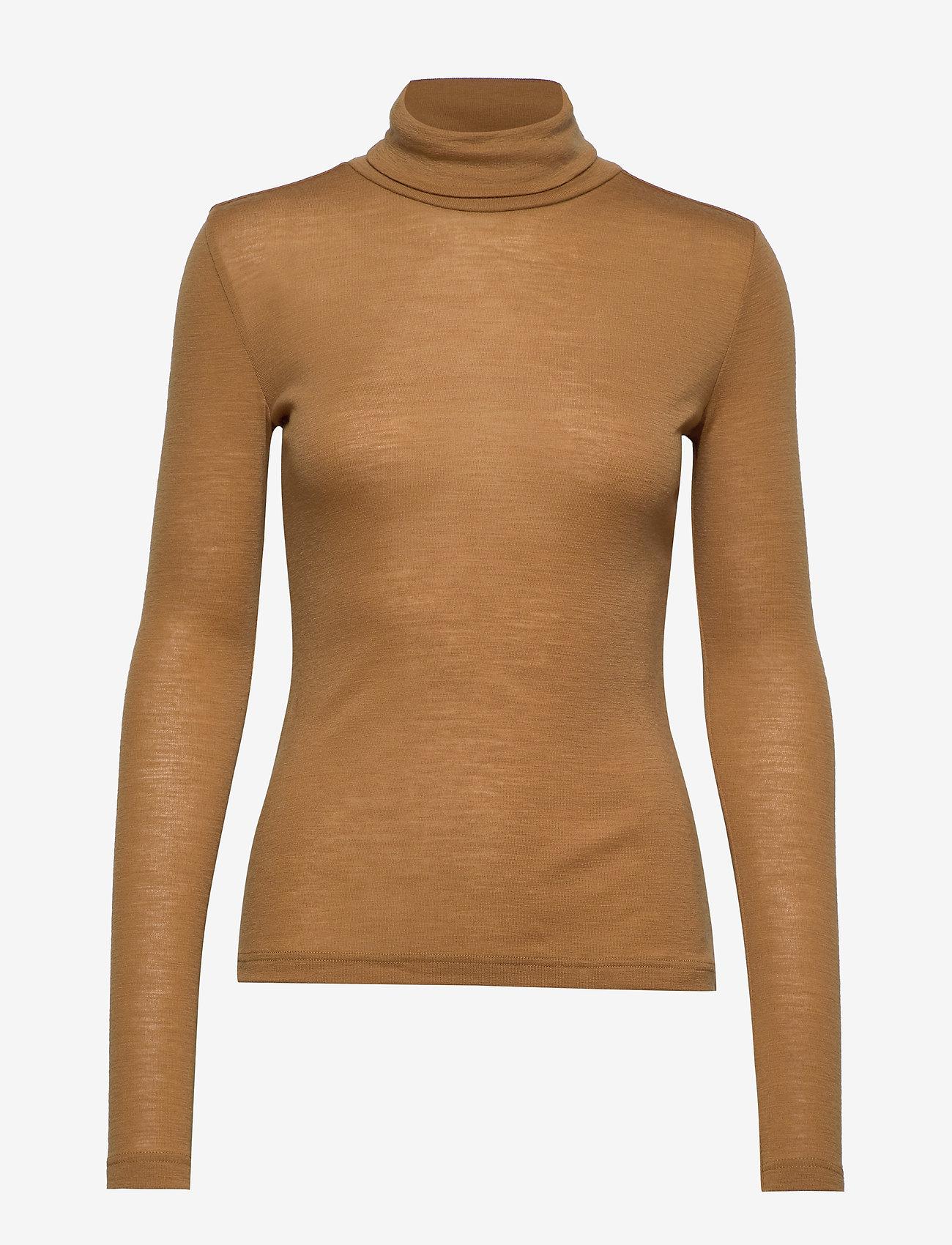 Gestuz - WilmaGZ rollneck - t-shirts basiques - bone brown