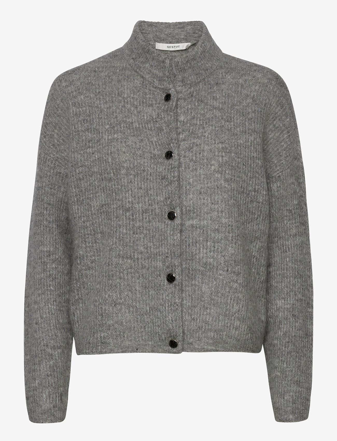Gestuz - DebbieGZ short cardigan NOOS - cardigans - high-rise grey melange - 1