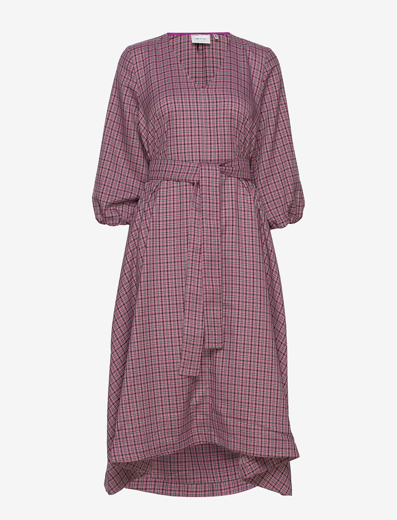 Gestuz - ZiellaGZ OZ dress SO20 - midi kjoler - purple check - 1