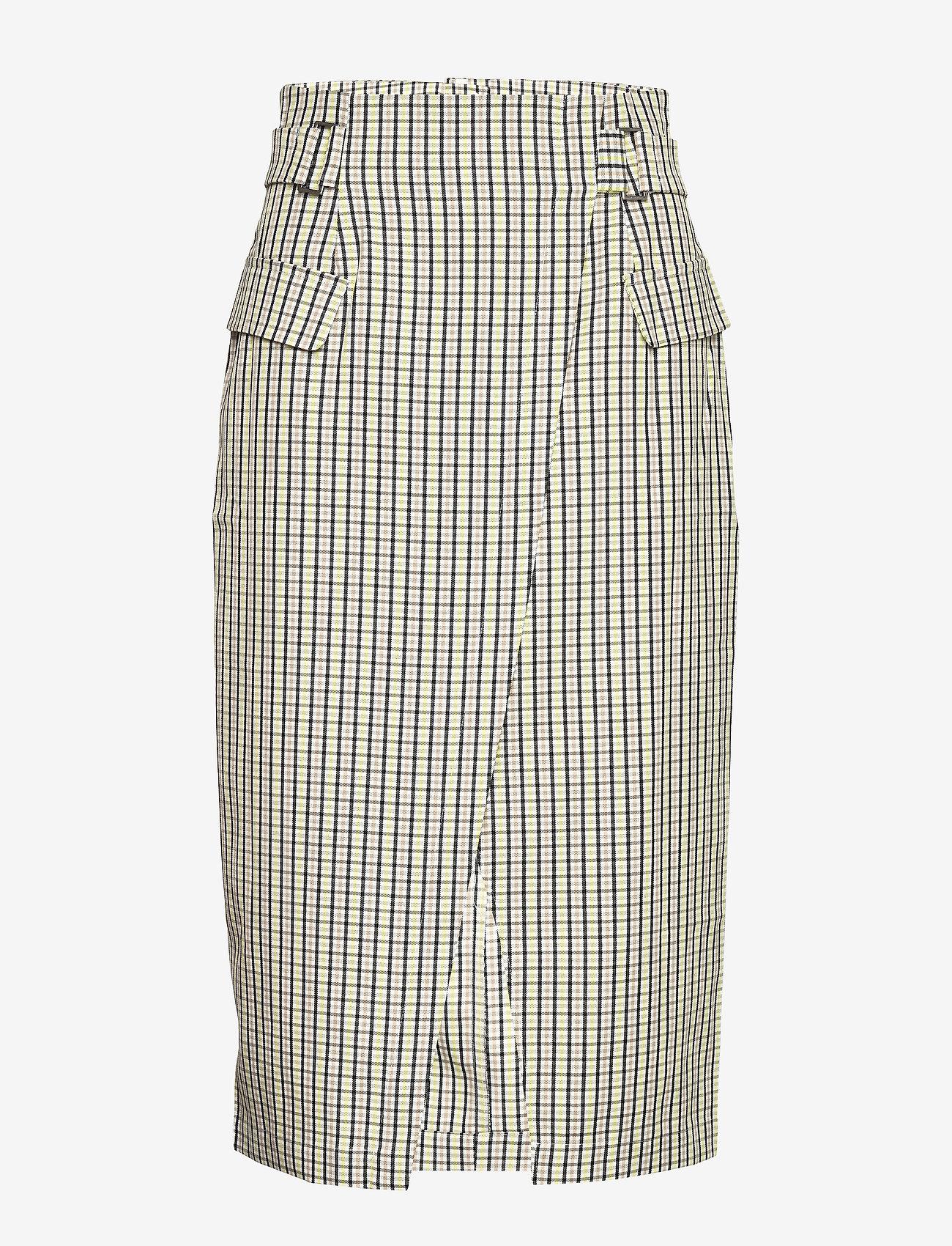 Gestuz - ElionaGZ skirt MS20 - midi - lime light check - 1