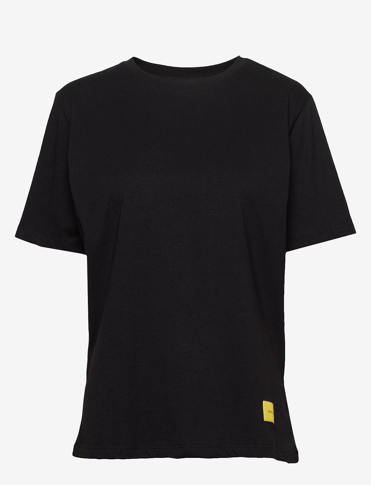 Gestuz - LivGZ tee NOOS - t-shirts - black - 0
