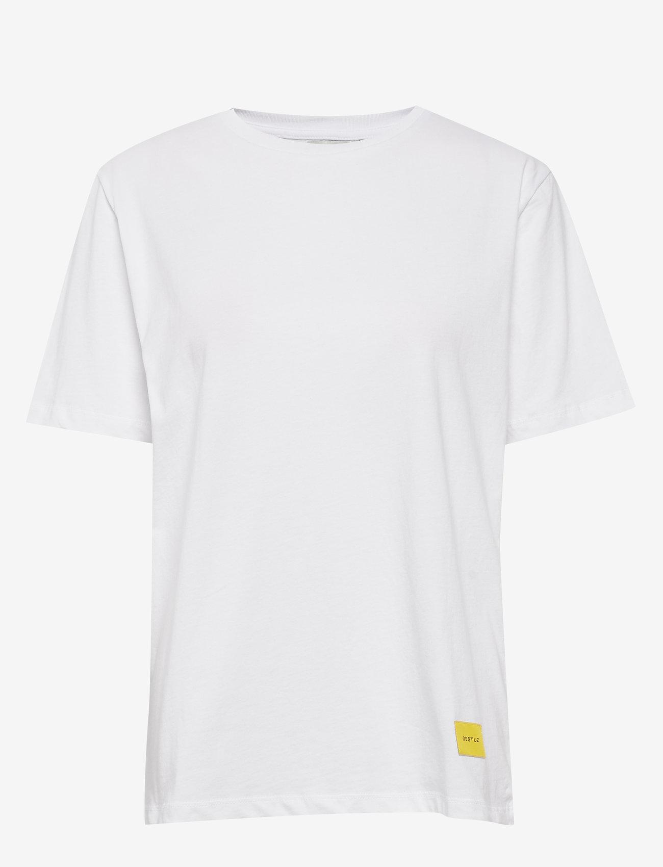 Gestuz - LivGZ tee NOOS - t-shirts - bright white - 1