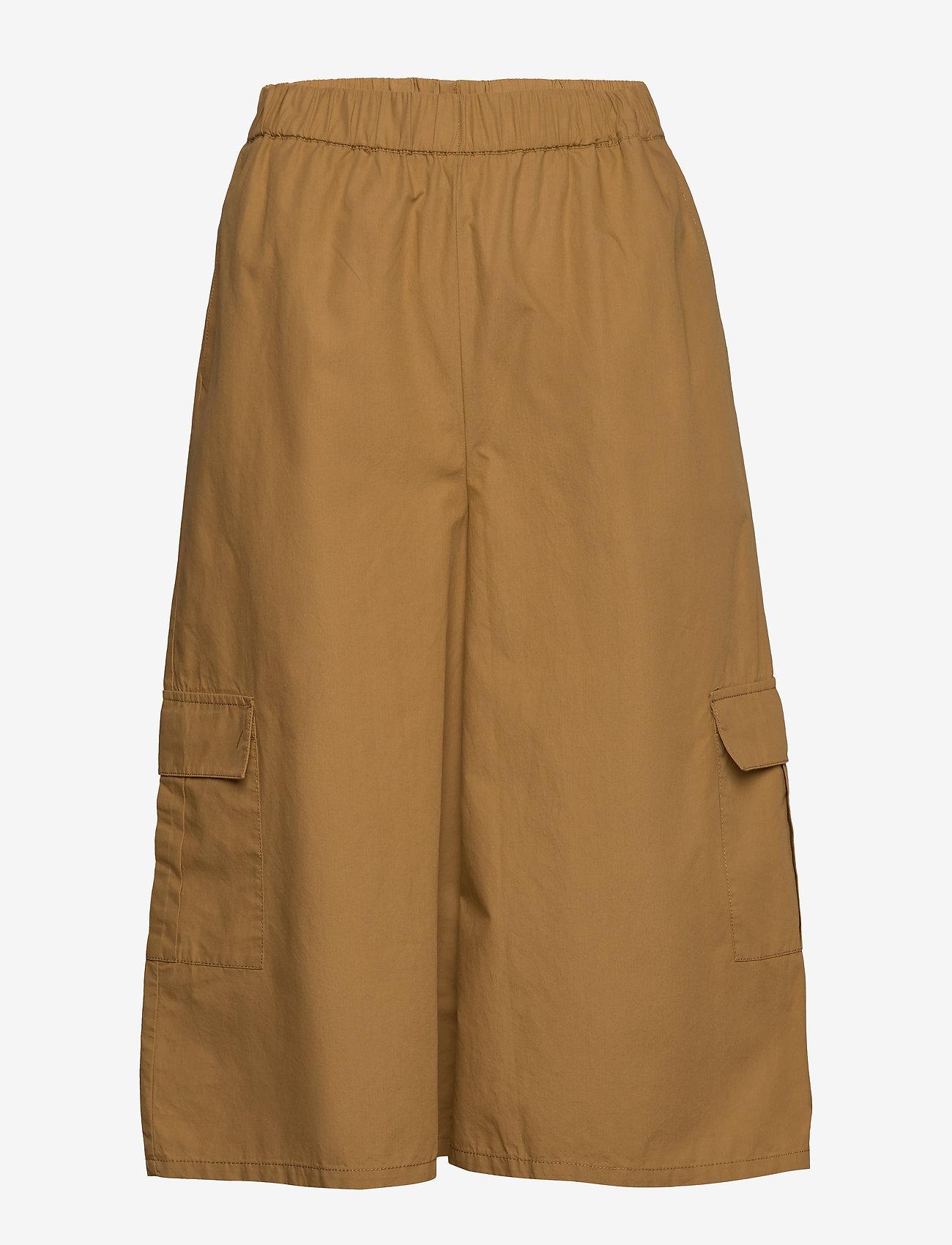 Gestuz - BaliaGZ shorts MS20 - bukser med brede ben - khaki - 0