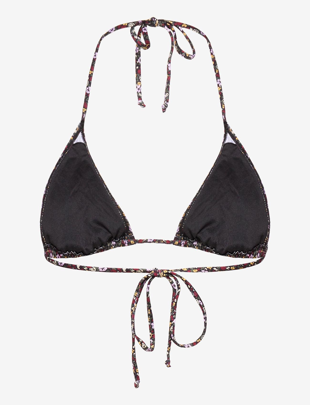 Gestuz - PilGZ bikini top - bikini overdele - small flower black beetle - 1